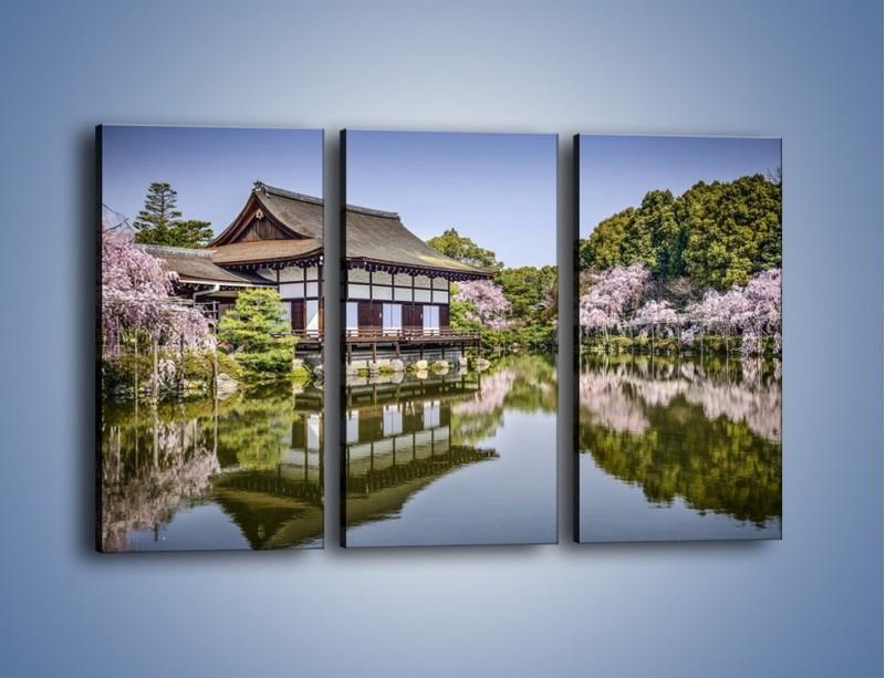Obraz na płótnie – Świątynia Heian Shrine w Kyoto – trzyczęściowy AM677W2