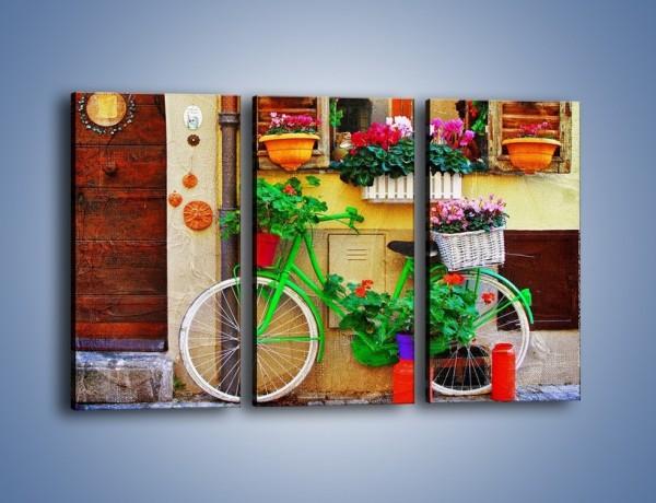 Obraz na płótnie – Front domku we włoskim miasteczku – trzyczęściowy AM680W2