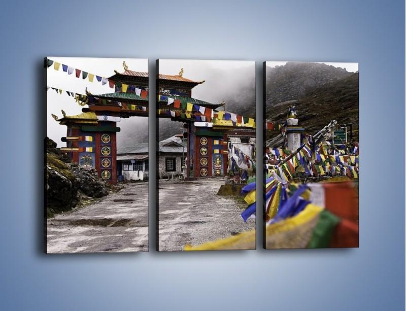 Obraz na płótnie – Brama do miasta Tawang w Tybecie – trzyczęściowy AM689W2