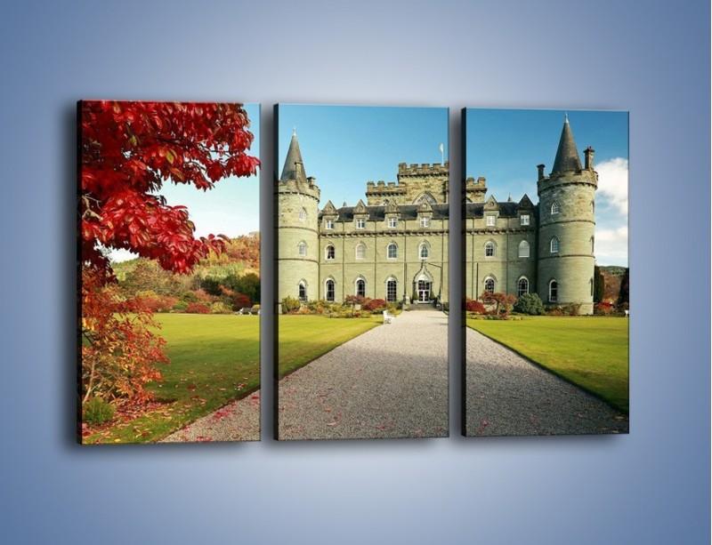 Obraz na płótnie – Zamek Inveraray w Szkocji – trzyczęściowy AM691W2