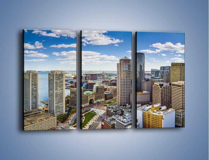 Obraz na płótnie – Boston w stanie Massachusetts – trzyczęściowy AM700W2