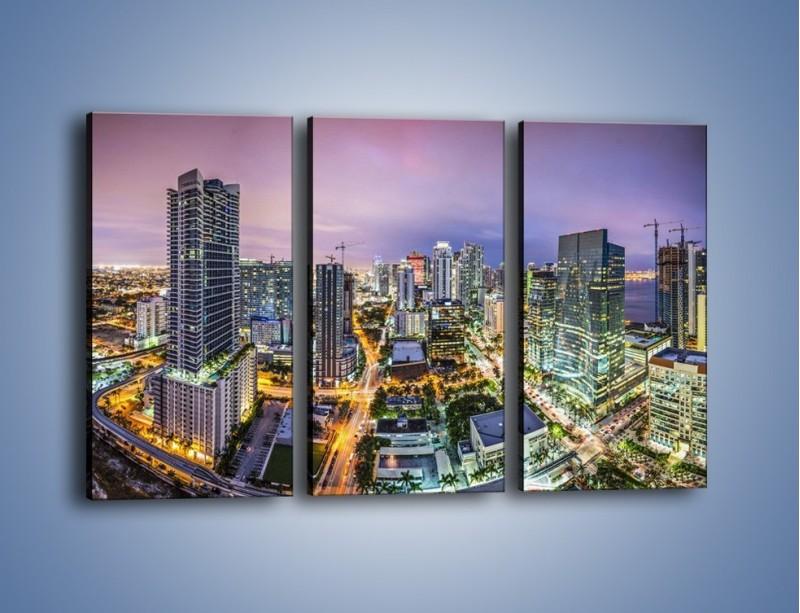 Obraz na płótnie – Centrum Miami – trzyczęściowy AM702W2