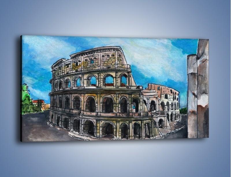 Obraz na płótnie – Znana budowla z bliska – jednoczęściowy panoramiczny GR039