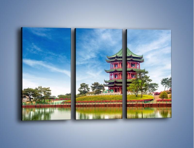 Obraz na płótnie – Chiński ogród w Singapurze – trzyczęściowy AM715W2