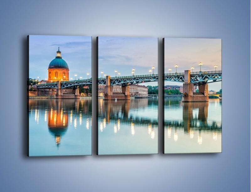 Obraz na płótnie – Most Saint-Pierre w Tuluzie – trzyczęściowy AM721W2