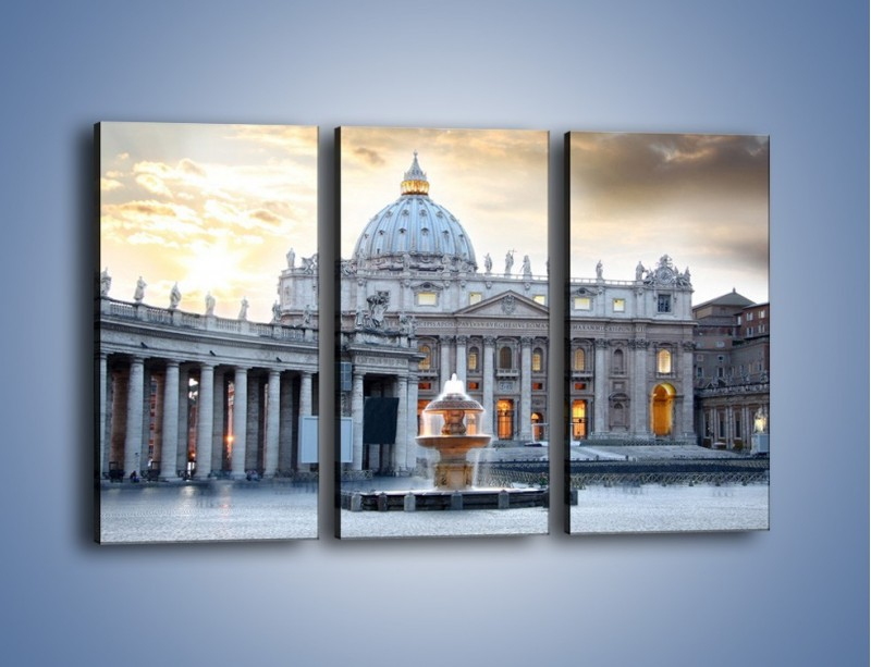 Obraz na płótnie – Bazylika św. Piotra w Watykanie – trzyczęściowy AM722W2