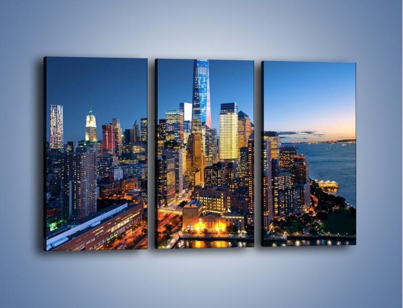 Obraz na płótnie – Zmierzch nad Manhattanem – trzyczęściowy AM749W2