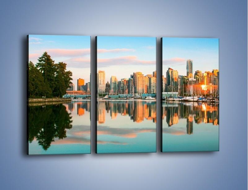 Obraz na płótnie – Widok na Vancouver – trzyczęściowy AM765W2