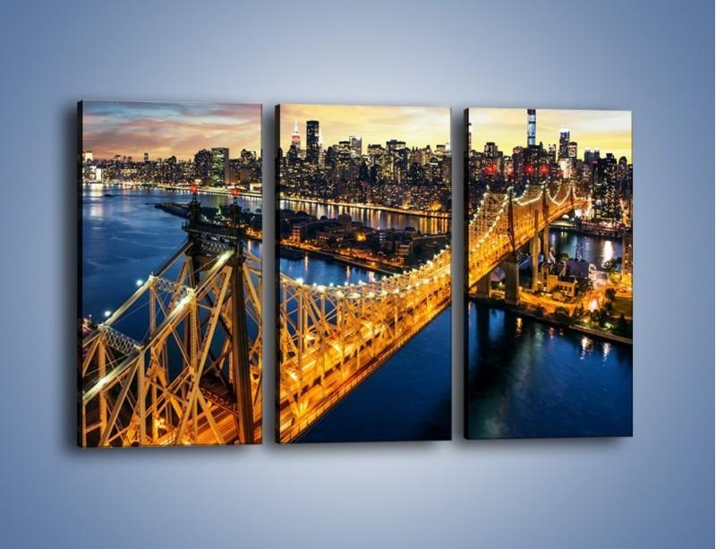 Obraz na płótnie – Queensboro Bridge w Nowym Yorku – trzyczęściowy AM768W2