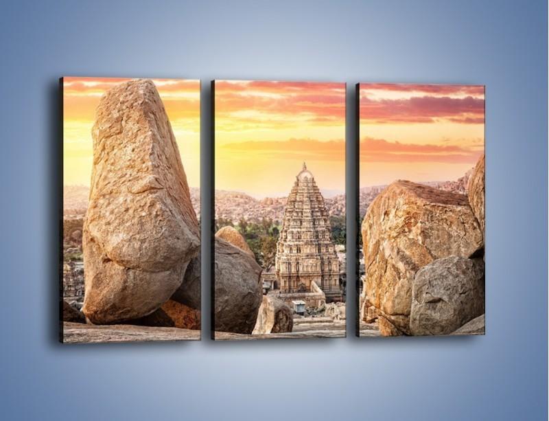 Obraz na płótnie – Świątynia Virupaksha w Indiach – trzyczęściowy AM787W2