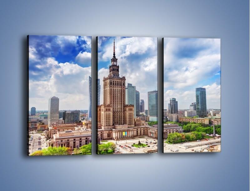 Obraz na płótnie – Pałac Kultury i Nauki w Warszawie – trzyczęściowy AM806W2