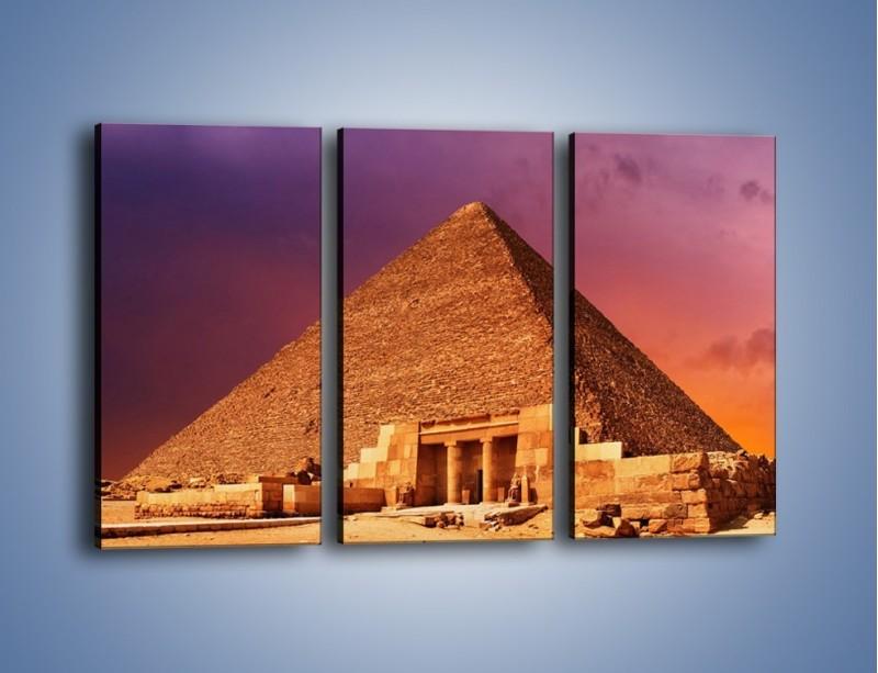 Obraz na płótnie – Piramida w Egipcie – trzyczęściowy AM812W2