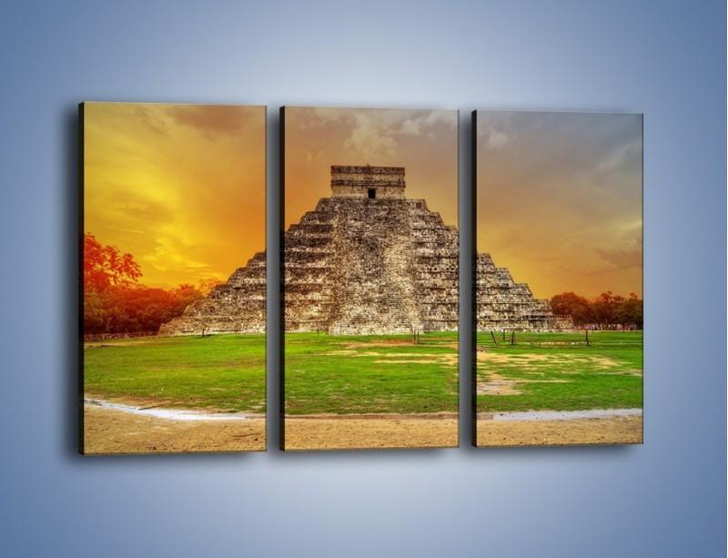 Obraz na płótnie – Piramida Kukulkana w Meksyku – trzyczęściowy AM814W2