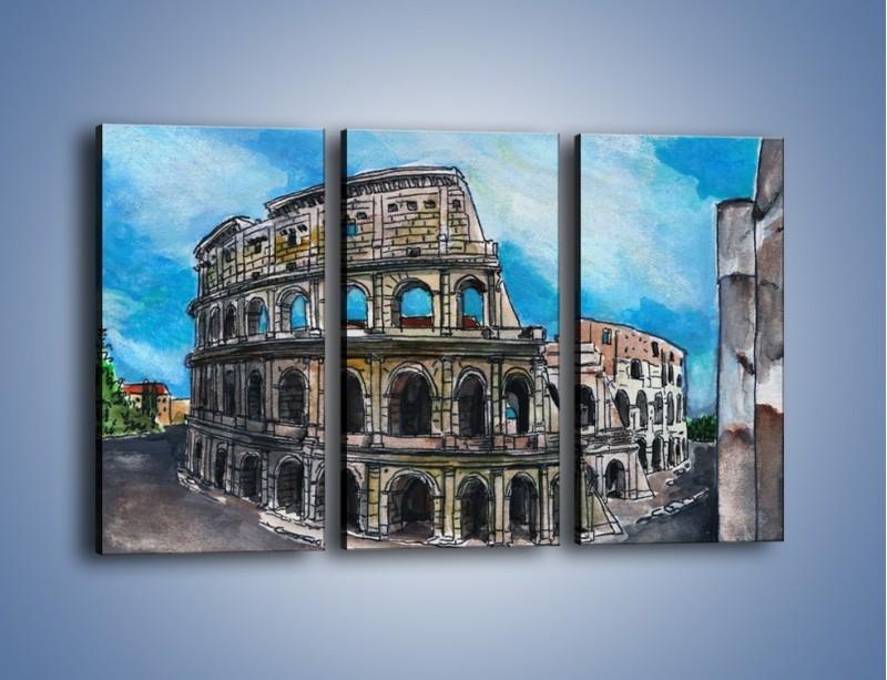 Obraz na płótnie – Znana budowla z bliska – trzyczęściowy GR039W2