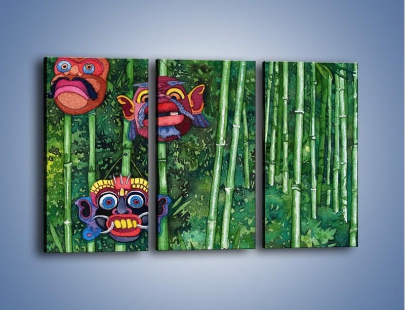 Obraz na płótnie – Maski dzikiego plemienia – trzyczęściowy GR051W2