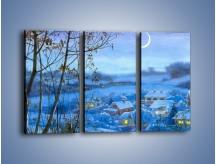 Obraz na płótnie – Domki w świetle księżyca – trzyczęściowy GR097W2