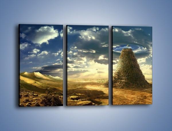 Obraz na płótnie – Przez górę aż do chmur – trzyczęściowy GR139W2