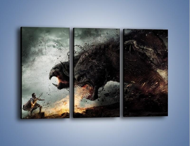 Obraz na płótnie – Groźny podmuch potworów – trzyczęściowy GR174W2