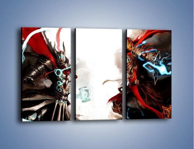 Obraz na płótnie – Walka z potężną siłą – trzyczęściowy GR207W2