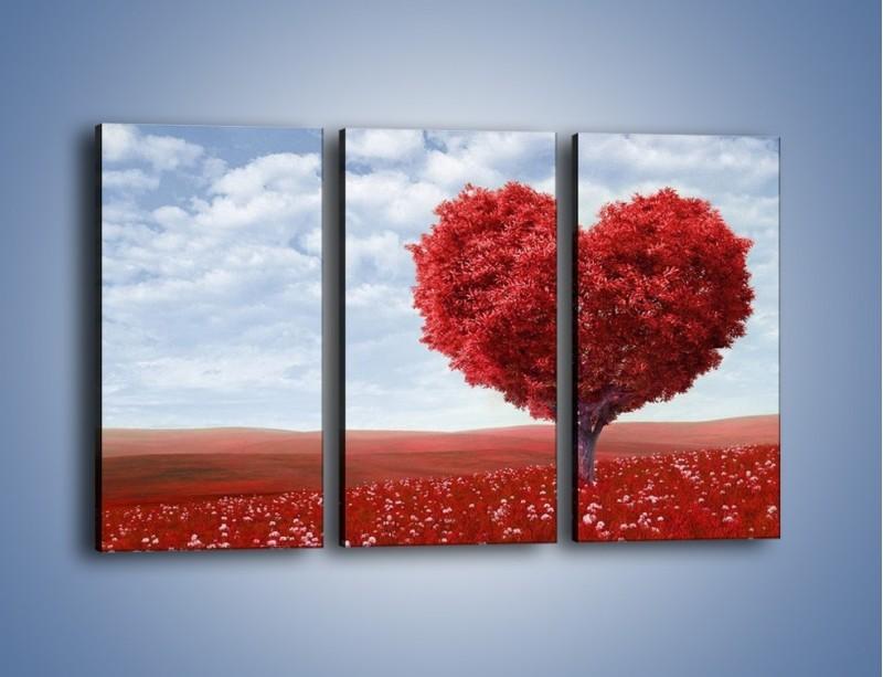 Obraz na płótnie – Polaną w stronę miłości – trzyczęściowy GR249W2