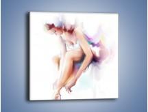 Obraz na płótnie – Delikatność baletnicy – jednoczęściowy kwadratowy GR268