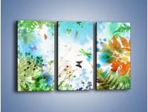Obraz na płótnie – Baśniowa kraina w kolorach – trzyczęściowy GR270W2