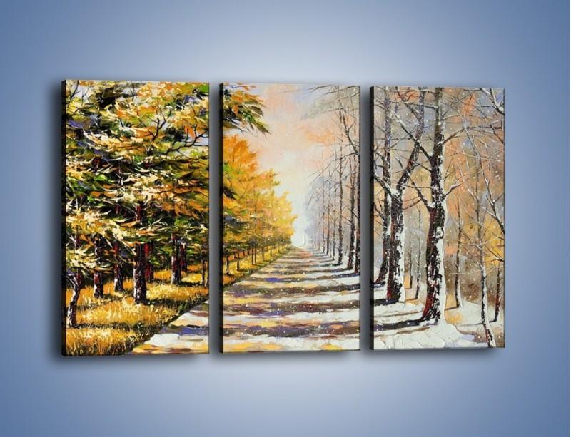 Obraz na płótnie – Trochę jesieni trochę zimy – trzyczęściowy GR292W2