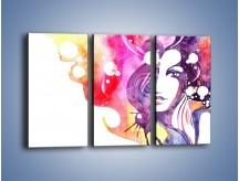 Obraz na płótnie – Barwy w otoczeniu kobiety – trzyczęściowy GR296W2