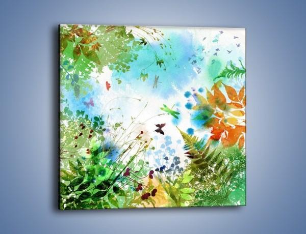 Obraz na płótnie – Baśniowa kraina w kolorach – jednoczęściowy kwadratowy GR270