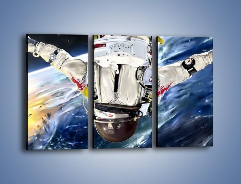 Obraz na płótnie – Dotrzeć na księżyc – trzyczęściowy GR355W2
