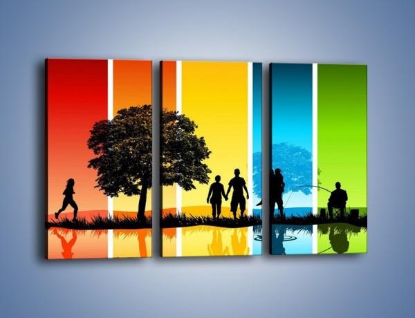 Obraz na płótnie – Kadr z życia – trzyczęściowy GR396W2