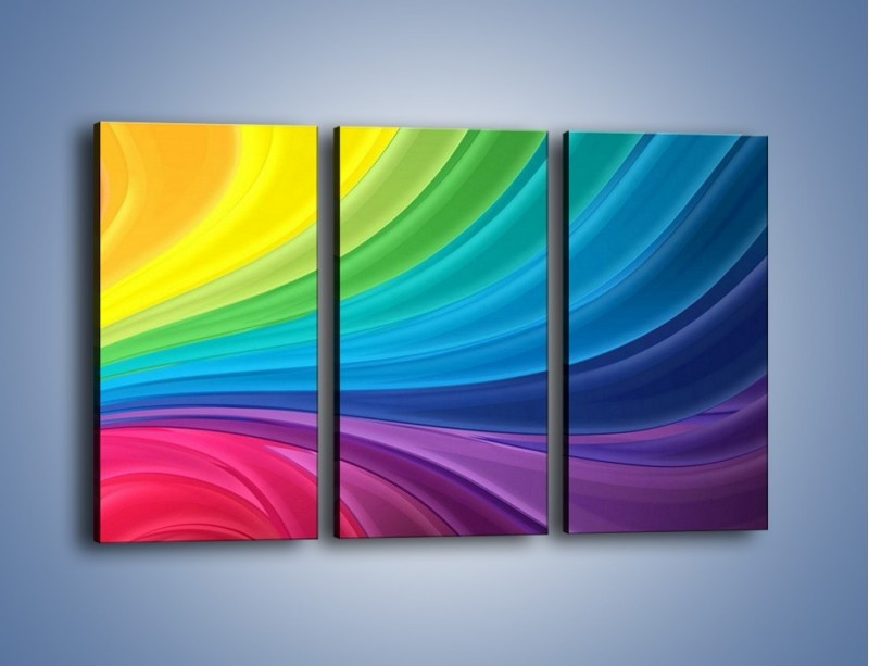 Obraz na płótnie – Zachowane kolory tęczy – trzyczęściowy GR424W2