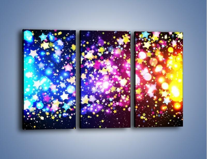 Obraz na płótnie – Kolory widziane nocą – trzyczęściowy GR432W2