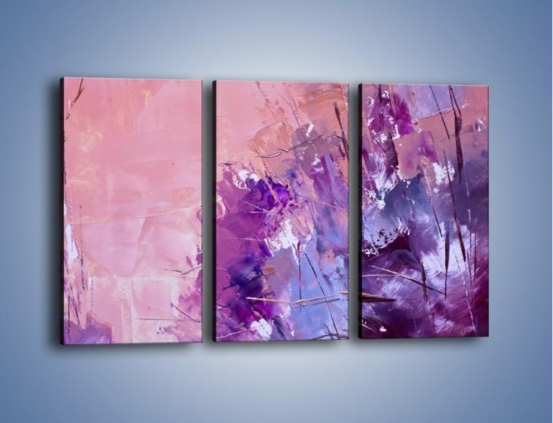 Obraz na płótnie – Mocna barwa fioletu – trzyczęściowy GR472W2