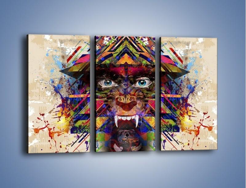 Obraz na płótnie – Groźny mimo kolorów – trzyczęściowy GR515W2
