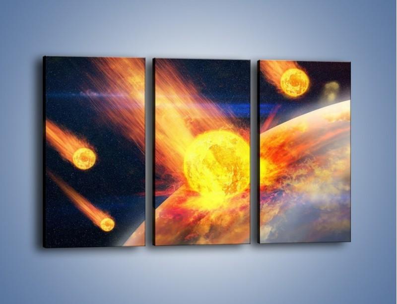 Obraz na płótnie – Atak kula ognia – trzyczęściowy GR532W2