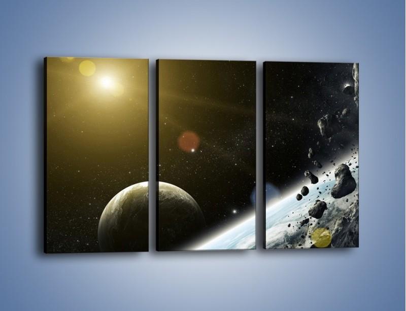 Obraz na płótnie – Dotrzeć między planety – trzyczęściowy GR534W2