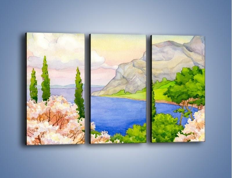 Obraz na płótnie – Krajobraz jak z pocztówki – trzyczęściowy GR541W2