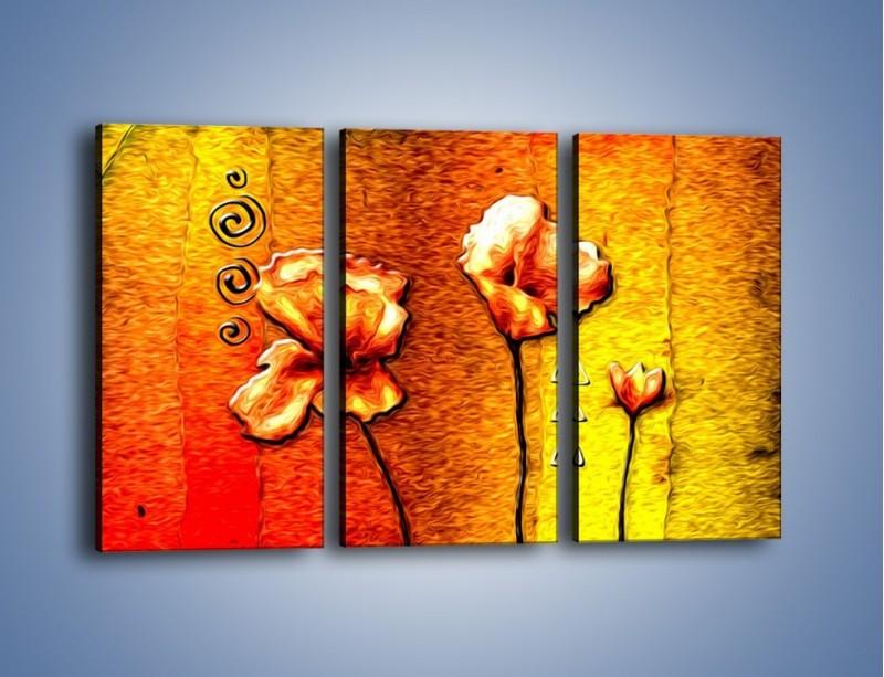 Obraz na płótnie – Maki z dodatkami – trzyczęściowy GR574W2