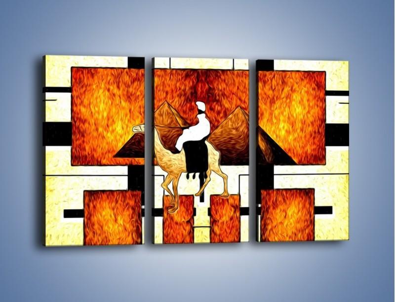 Obraz na płótnie – Wędrówka na wielbłądzie – trzyczęściowy GR593W2
