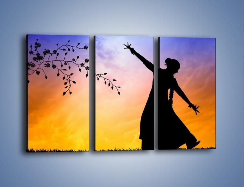 Obraz na płótnie – Wieczorny cygański taniec – trzyczęściowy GR597W2