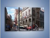 Obraz na płótnie – Codzienne życie na kubie – trzyczęściowy GR627W2