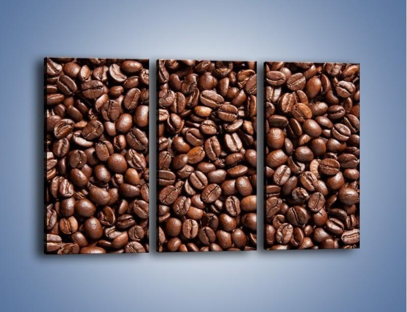 Obraz na płótnie – Ziarna świeżej kawy – trzyczęściowy JN061W2