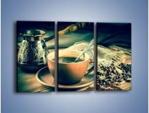 Obraz na płótnie – Czarna kawa arabica – trzyczęściowy JN064W2