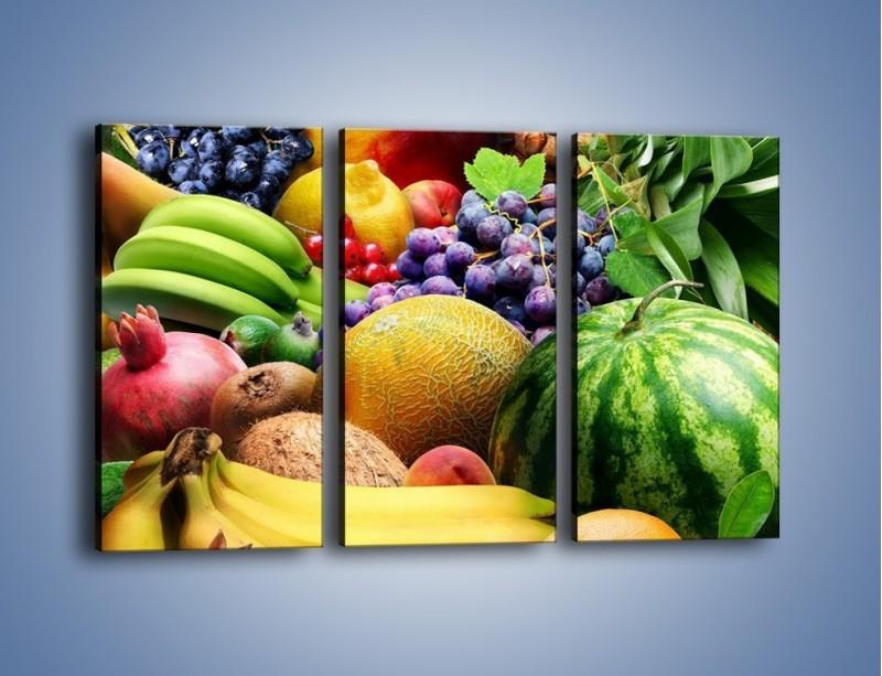 Obraz na płótnie – Stół pełen dojrzałych owoców – trzyczęściowy JN072W2