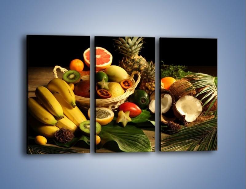 Obraz na płótnie – Kosz egzotycznych owoców – trzyczęściowy JN074W2