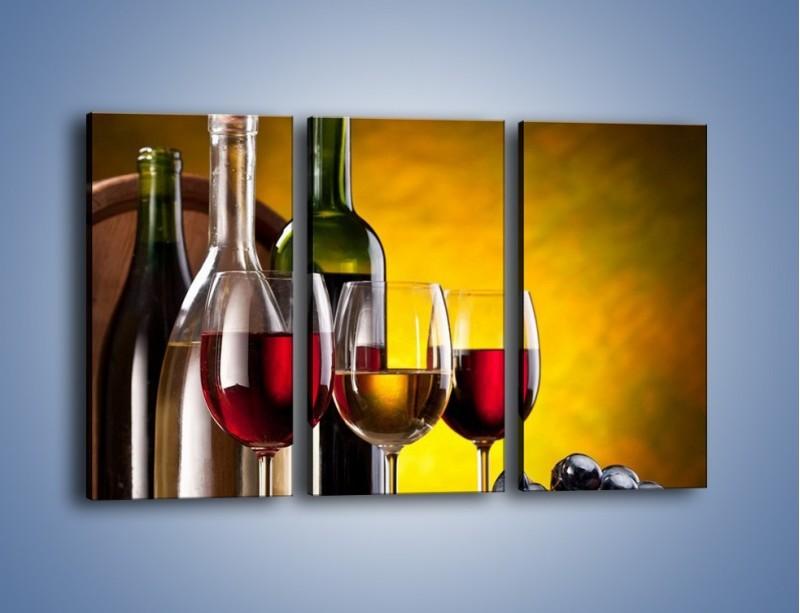 Obraz na płótnie – Wino z orzechami – trzyczęściowy JN077W2