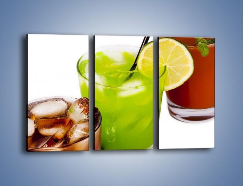 Obraz na płótnie – Kwaśno-słodkie drinki – trzyczęściowy JN093W2