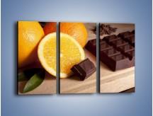 Obraz na płótnie – Czekoladowo-pomarańczowa rozkosz – trzyczęściowy JN094W2