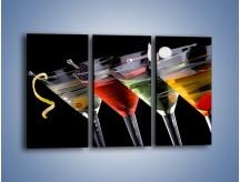 Obraz na płótnie – Alkoholowa zabawa do rana – trzyczęściowy JN100W2